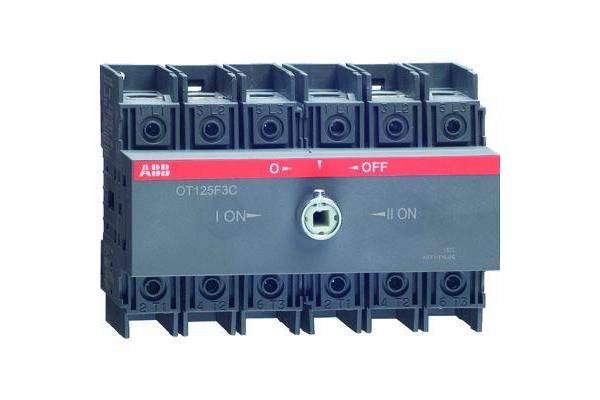 Рубильник реверсивный OT100F3C 100А (80А AC23) ABB 1SCA105008R1001