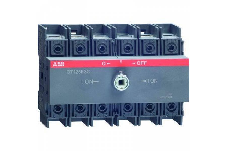 Рубильник реверсивный OT125F3C 125А (90А AC23) ABB 1SCA105037R1001