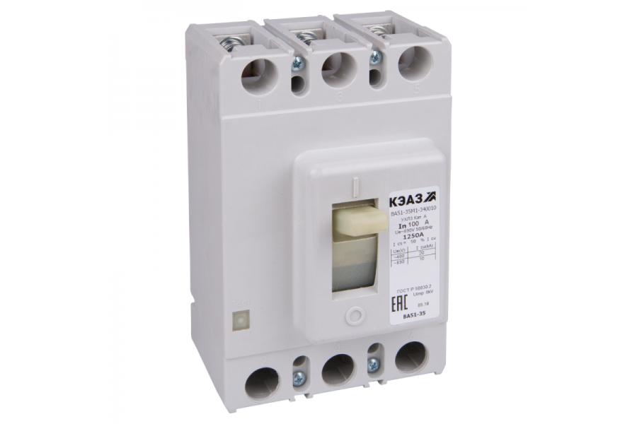Выключатель автоматический 125А ВА51-35М2-340010 УХЛ3 690В AC КЭАЗ 108355