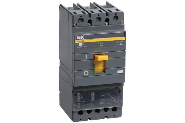 Выключатель автоматический 3п 250А 35кА ВА 88-35 электр. расцеп. MP 211 IEK SVA31-3-0250
