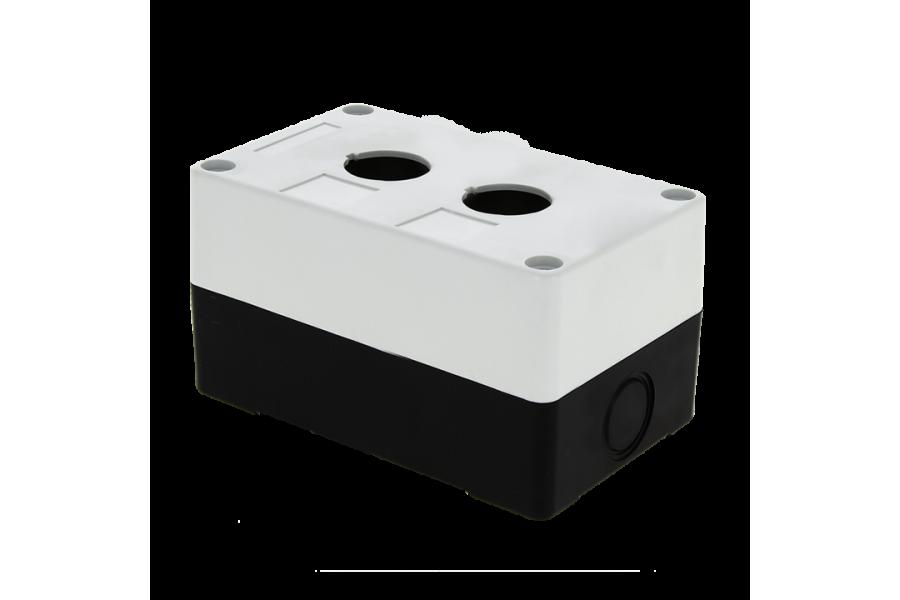 Корпус КП 102 2 кнопки белый EKF cpb-102-w