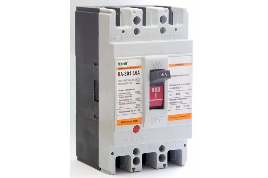 Выключатель автоматический 3п 50А 25кА ВА-301 SchE 21005DEK