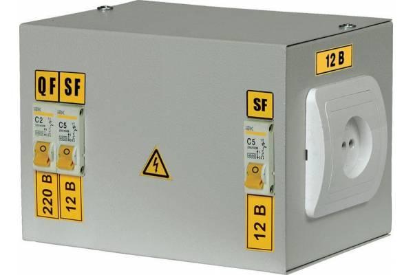 Ящик с понижающим трансформатором ЯТП 0.25 220/24В (2 авт. выкл.) IEK MTT12-024-0250