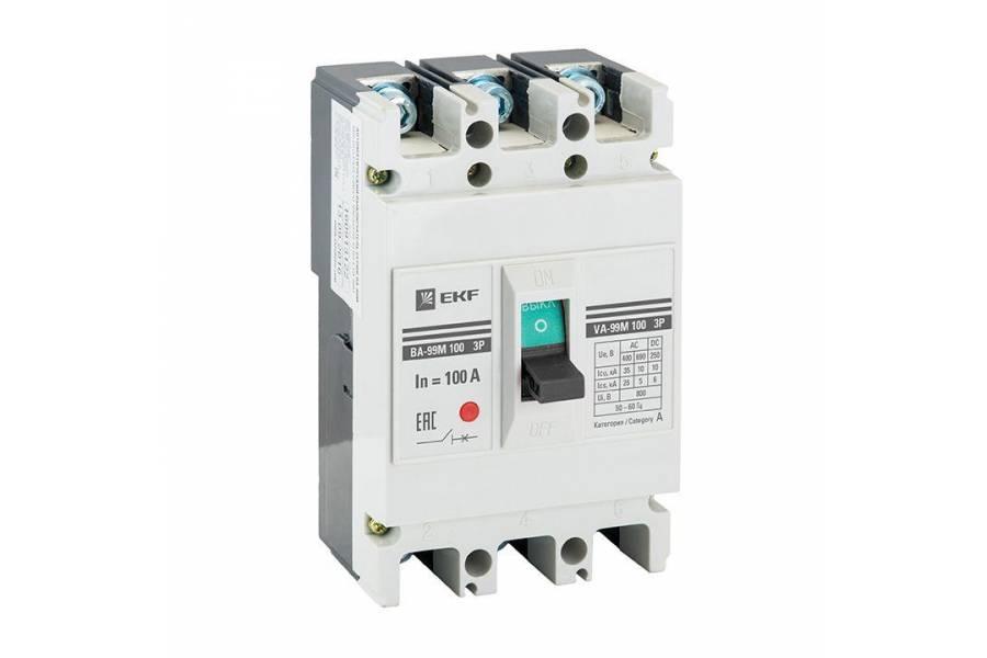 Выключатель автоматический 3п 100/100А 35кА ВА-99М PROxima EKF mccb99-100-100m