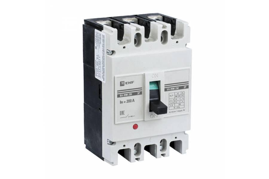 Выключатель автоматический 3п 250/200А 25кА ВА-99М PROxima EKF mccb99-250-200m