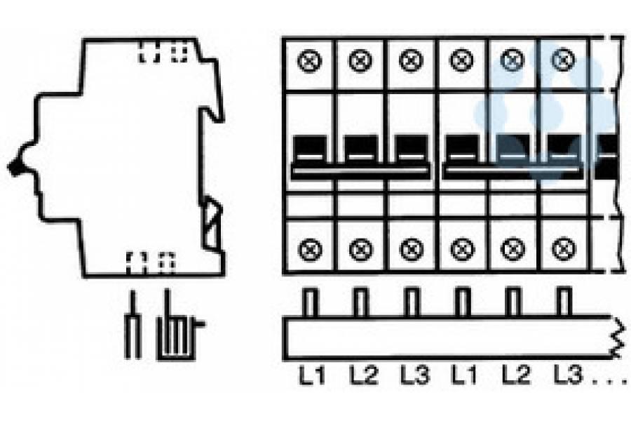 Разводка шинная 3ф PS3/12(PIN) 63A ABB 2CDL230001R1012