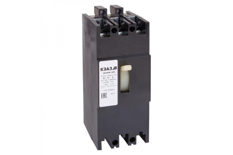Выключатель автоматический 31.5А 12Iн АЕ2046-100 У3 400В AC КЭАЗ 104225