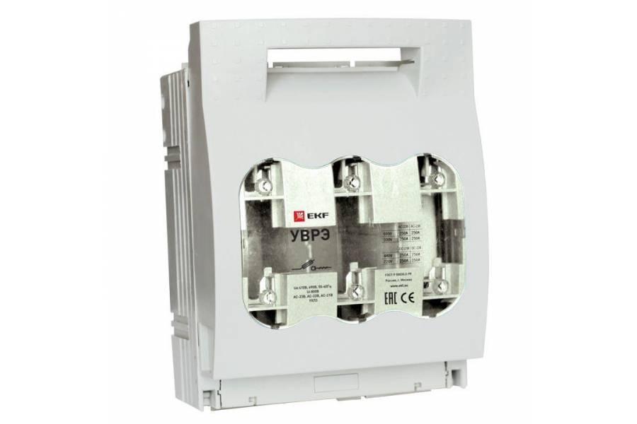 Выключатель-разъединитель УВРЭ 250А откидного типа под предохранители ППН (габ.1) EKF uvre-250