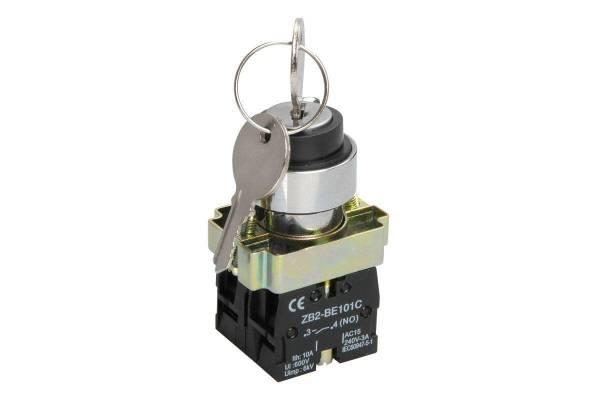 Переключатель LAY5-BG45 на 2 полож. с ключ. без фиксации IEK BSW80-BG-2-K02