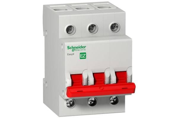 Выключатель нагрузки EASY9 (мод. рубильник) 3П 63А 400В =S= SchE EZ9S16363