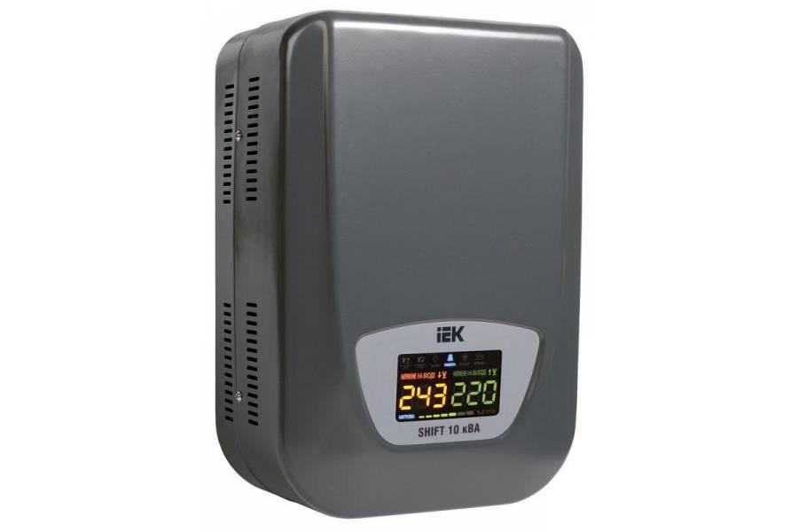 Стабилизатор напряжения Shift 10кВА настен. ИЭК IVS12-1-10000