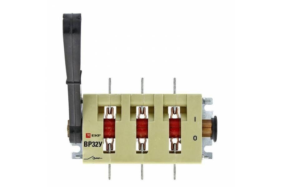 Выключатель-разъединитель ВР32У-35B31250 250А 1 напр. с дугогасит. камерами съемная лев./прав. рукоятка MAXima EKF uvr32-35b31250