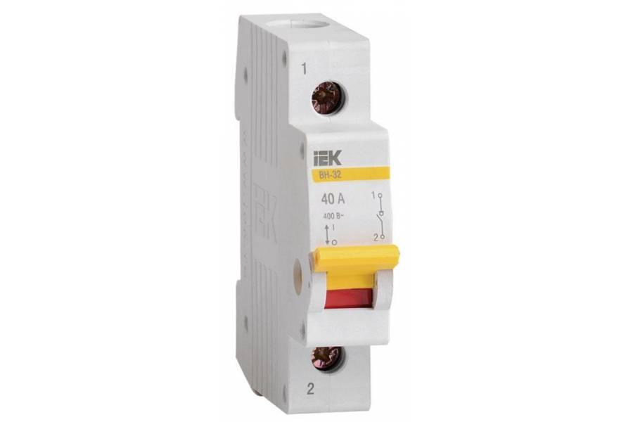 Выключатель нагрузки ВН-32 40А/1П IEK MNV10-1-040