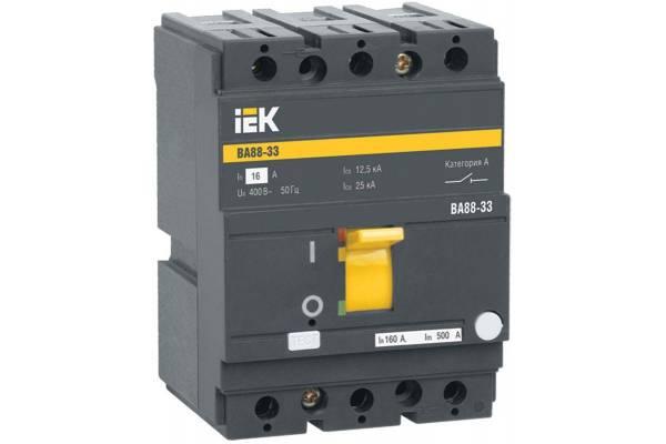Выключатель автоматический 3п 160А 35кА ВА 88-33 IEK SVA20-3-0160