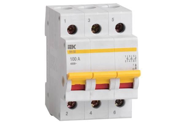Выключатель нагрузки ВН-32 100А/3П ИЭК MNV10-3-100