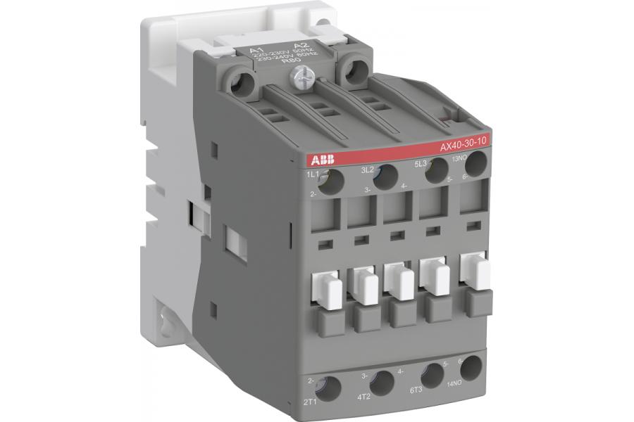 Контактор AX40-30-10-80 40А AC3 с катушкой управления 220-230В AC ABB 1SBL321074R8010