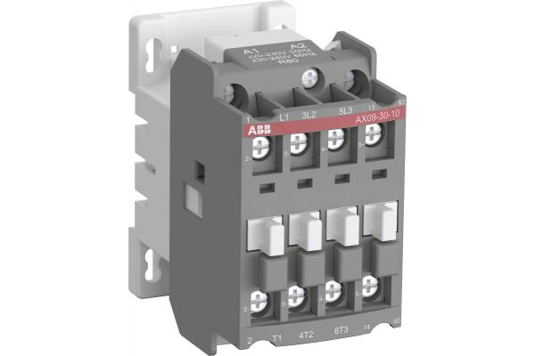 Контактор AX09-30-10-80 9А AC3 с катушкой управления 220-230В AC ABB 1SBL901074R8010