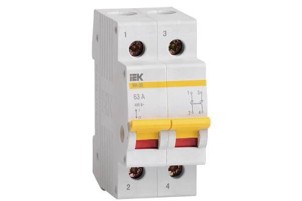 Выключатель нагрузки ВН-32 63А/2П IEK MNV10-2-063