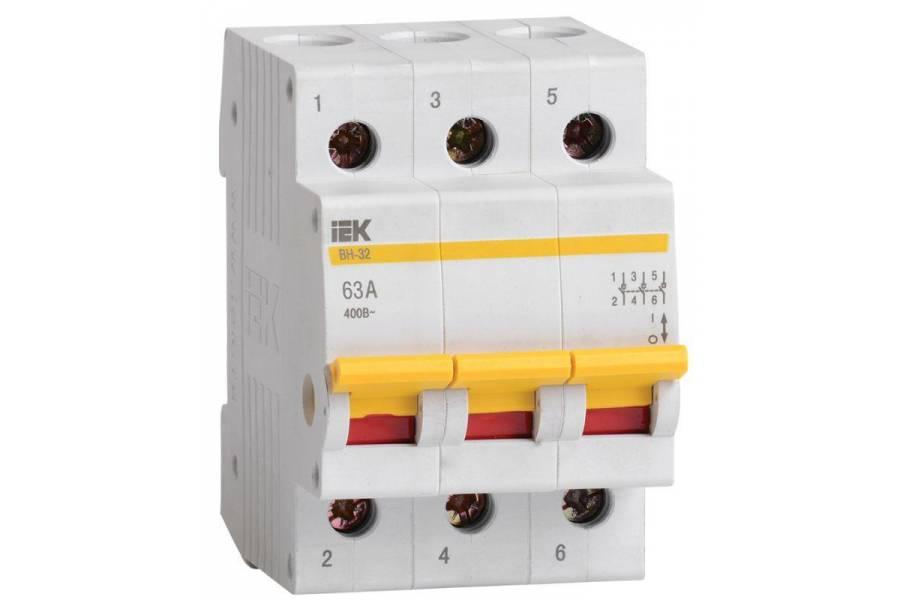 Выключатель нагрузки ВН-32 63А/3П IEK MNV10-3-063