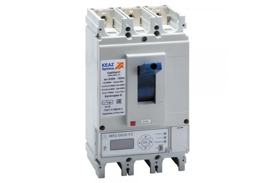 Выключатель автоматический 400А 40кА OptiMat D400N MR2 У3 КЭАЗ 249225