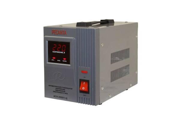 Стабилизатор напряжения АСН-2000/1-Ц 1ф 2кВт IP20 релейный Ресанта 63/6/4