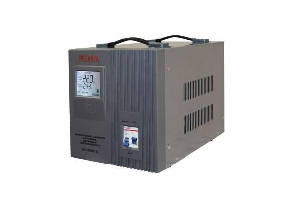 Стабилизатор напряжения АСН-3000/1-Ц 1ф 3кВт IP20 релейный Ресанта 63/6/5