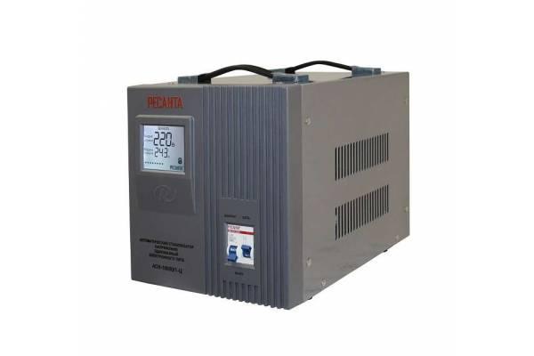 Стабилизатор напряжения АСН-10000/1-Ц 1ф 10кВт IP20 релейный Ресанта 63/6/8
