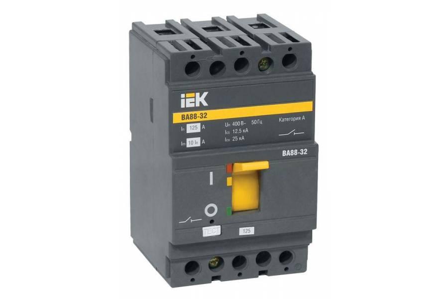 Выключатель автоматический 3п 100А 25кА ВА 88-32 IEK SVA10-3-0100
