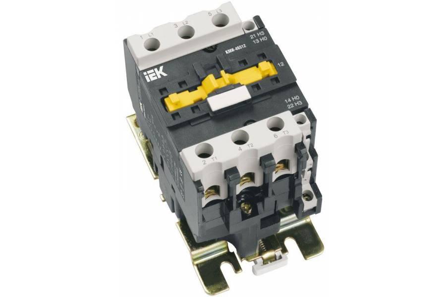 Контактор КМИ-48012 80А 230В/AC3 1HО;1H3 IEK KKM41-080-230-11
