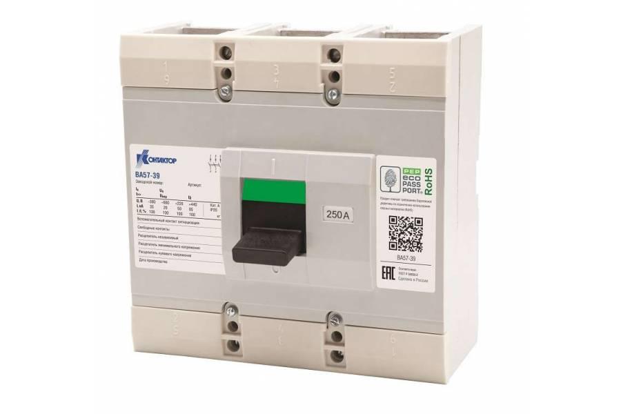 Выключатель автоматический 3п 400А 4000Im ВА57-39-340010 660/380В AC Контактор L630-0015