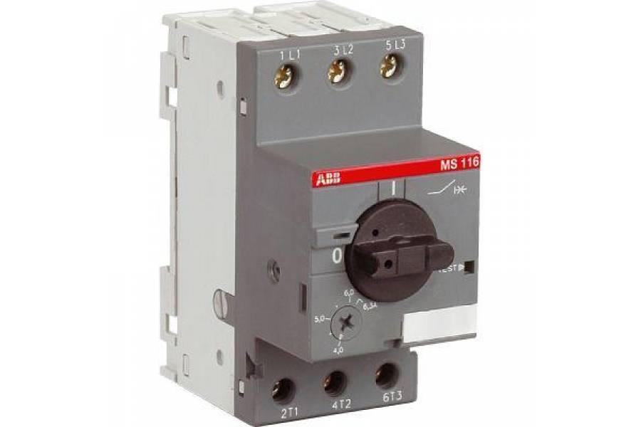 Выключатель авт. защиты двиг. MS-116-6.3 50kA ABB 1SAM250000R1009