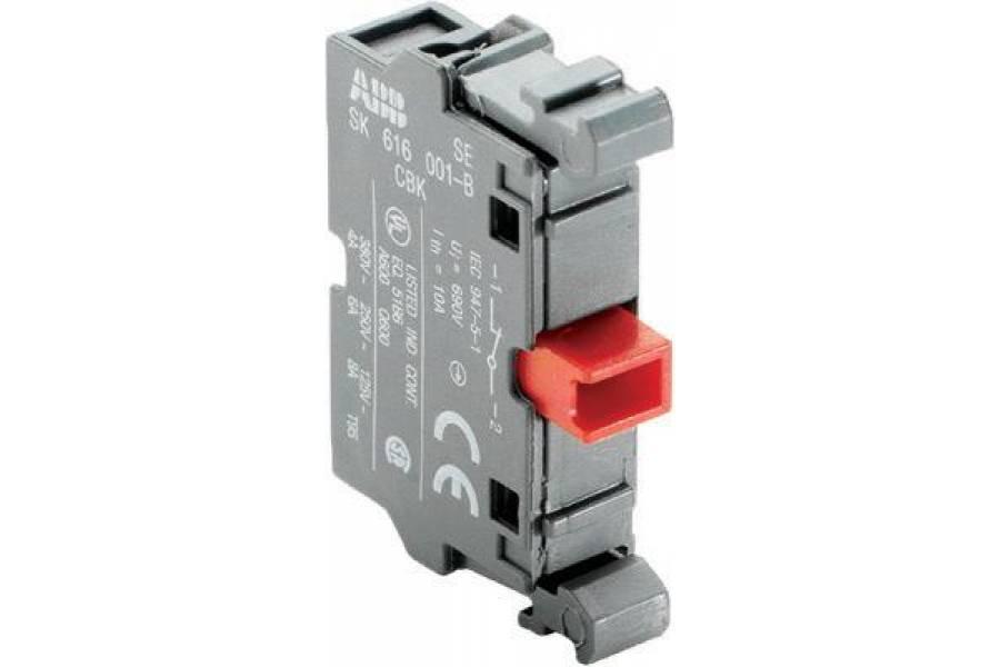 Блок контактов MCB-01 фронт. монтаж 1Н3 ABB 1SFA611610R1010