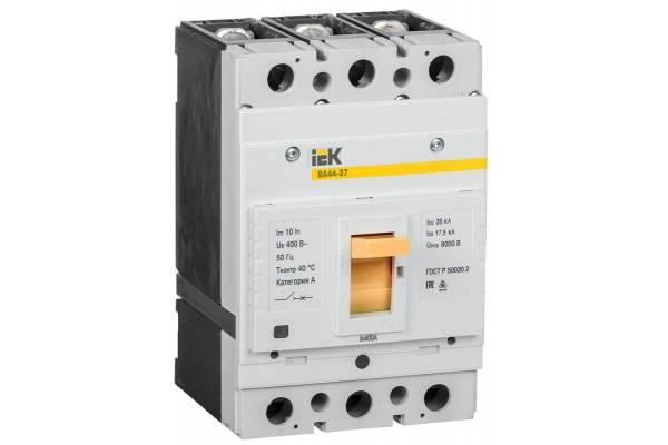 Выключатель автоматический 3п 400А 35кА ВА44-37 IEK SVA4410-3-0400-35