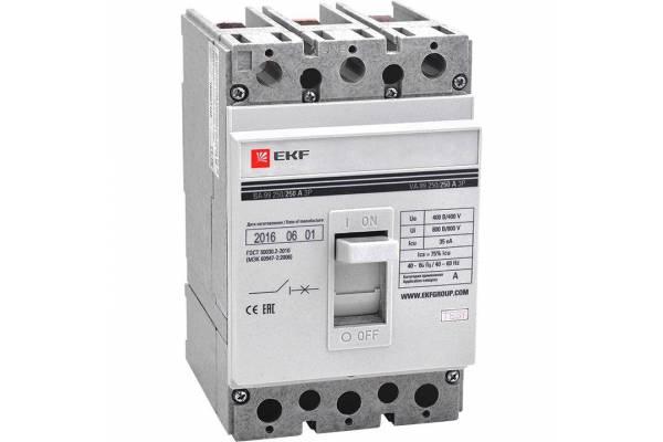 Выключатель автоматический 3п 250/250А 35кА ВА-99 PROxima EKF mccb99-250-250