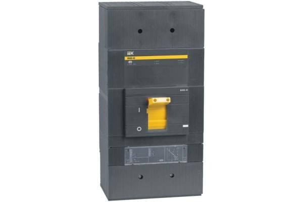 Выключатель автоматический 3п 1600А ВА 88-43 с электрон. расцеп. ИЭК SVA61-3-1600