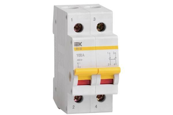 Выключатель нагрузки ВН-32 100А/2П IEK MNV10-2-100