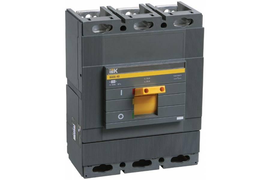 Выключатель автоматический 3п 500А 35кА ВА 88-40 IEK SVA50-3-0500