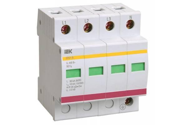 Ограничитель перенапряжения ОПС1-C 4P IEK MOP20-4-C