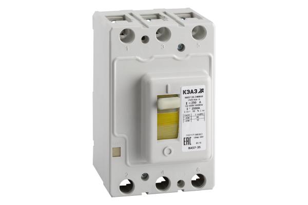 Выключатель автоматический 250А 2500Im ВА57-35-340010 УХЛ3 690В AC КЭАЗ 108600