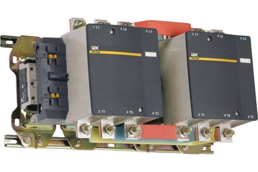 Контактор КТИ-64003 реверс 400А 230В/АС3 IEK KKT63-400-230-10