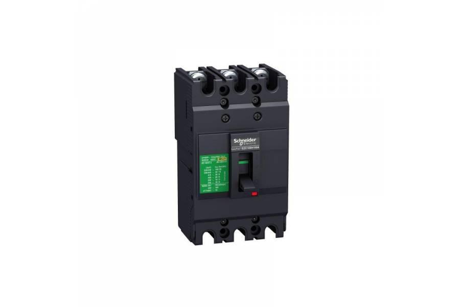 Выключатель автоматический 3п 3т 80А 18кА EZC100N SchE EZC100N3080