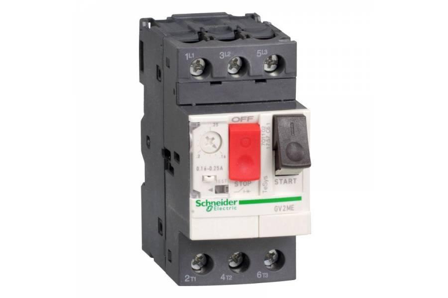 Выключатель авт. защиты двиг. ME10 (4-6.3А) SchE GV2ME10