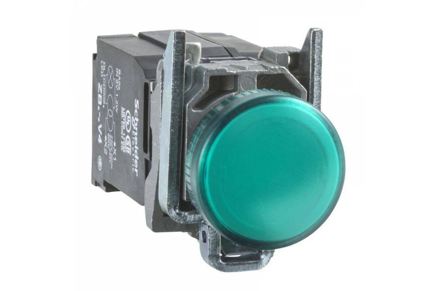 Лампа сигнальная 22мм 230-240В зел. SchE XB4BVM3