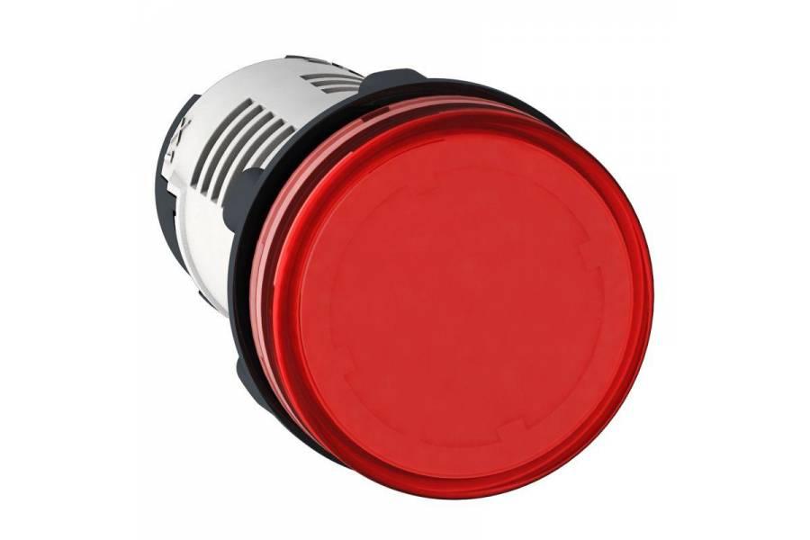 Лампа сигнальная 22мм 230В LED красн. SchE XB7EV04MP