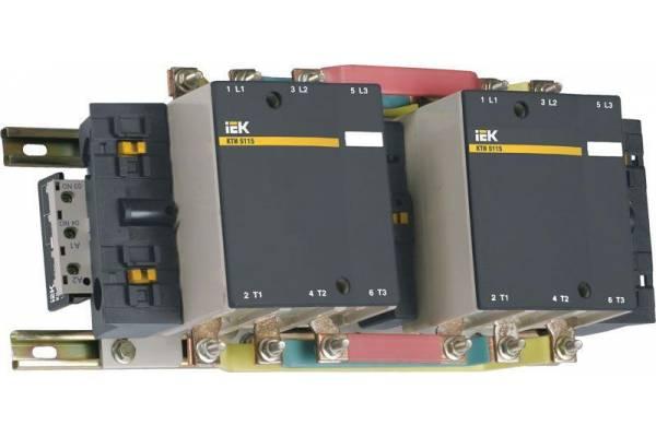 Контактор КТИ-51153 реверс 115А 230В/АС3 IEK KKT53-115-230-10