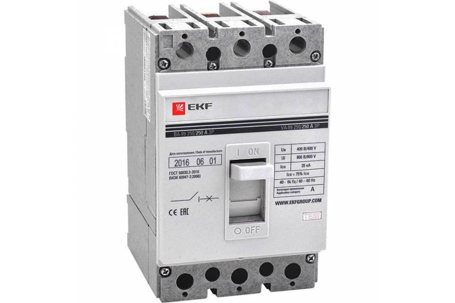 Выключатель автоматический 3п 250/200А 35кА ВА-99 PROxima EKF mccb99-250-200