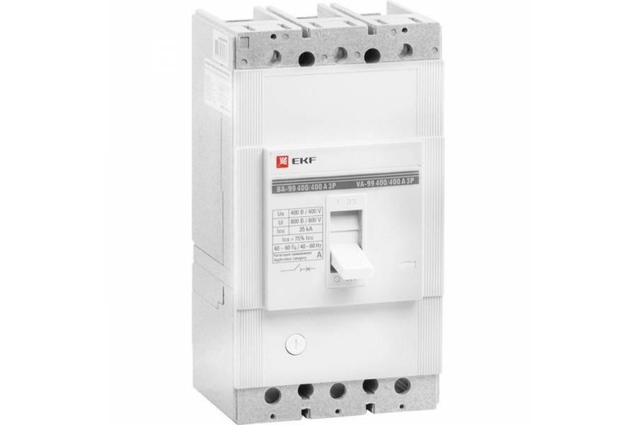 Выключатель автоматический 3п 400/400А 35кА ВА-99 PROxima EKF mccb99-400-400