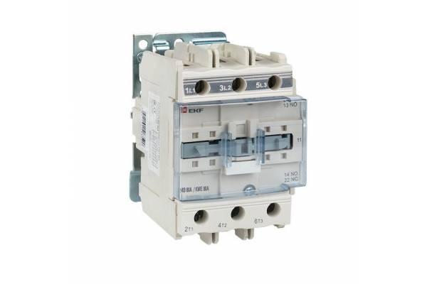 Контактор КМЭ 80А 380В NO+NC EKF ctr-s-80-380