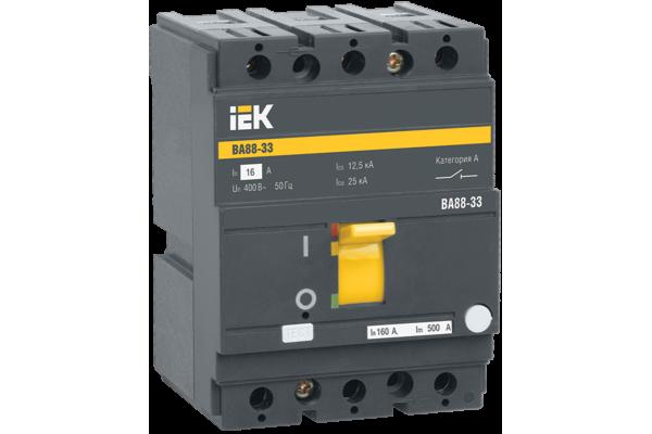 Выключатель автоматический 3п 16А ВА 88-33 ИЭК SVA20-3-0016