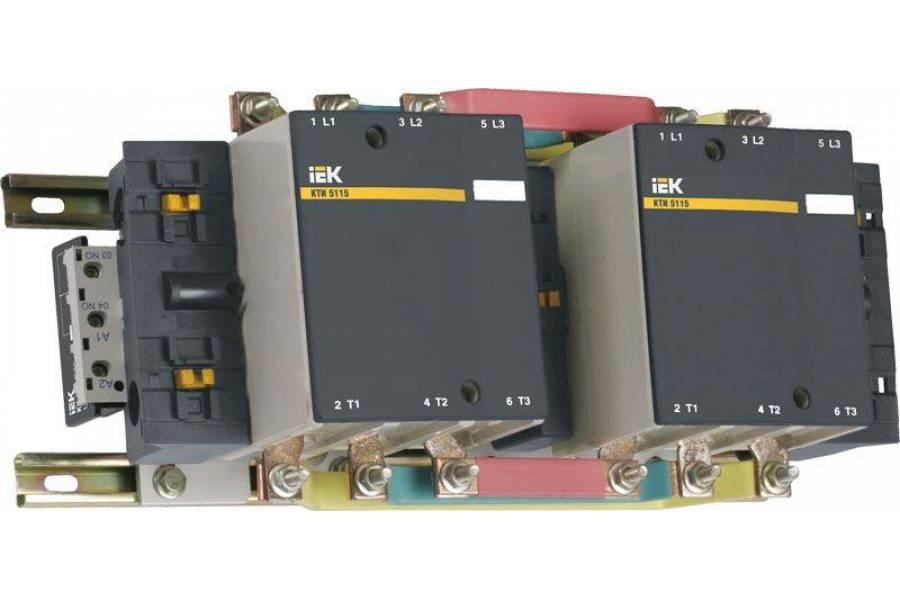 Контактор КТИ-52253 реверс 225А 230В/АС3 IEK KKT53-225-230-10
